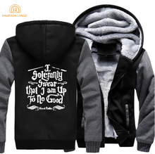 I Solemnly Swear that am Up To No Good Hogwarts Jackets Men 2019 Winter Mens Hoodies Sweatshirts Plus Size Thick Coat 5XL