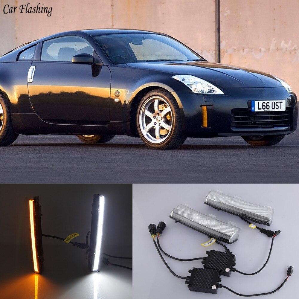 2pcs White Led Daytime Running Light Drl Fog Lamp For Mazda 6 2005 2008: Car Flashing 1Pair DRL LED Daytime Running Lights Yellow Signal Fog Lamp For Nissan 350Z Z33