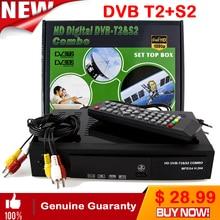 2018 Satellite receiver HD Digital DVB T2+S2 TV Tuner Receivable MPEG4 DVB-T2 TV Receiver T2 Tuner Free Shipping Support bisskey
