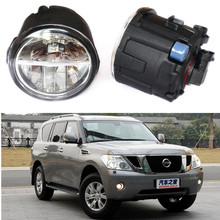 For NISSAN PATROL 3 III Y62 Closed Off-Road Vehicle  2010-2015 Car styling LED fog lights front bumper 10W Fog Lamps 1set