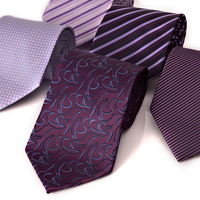 Brand quality Tie male formal purple series commercial tie married commercial paragraph of gift box set free shipping