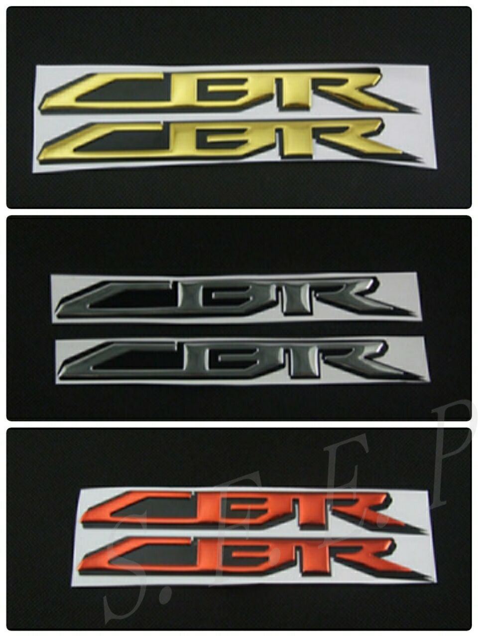 Motorcycle Emblem Badge Decal 3D Tank Wheel Logo For Honda CBR1000RR CBR600RR CBR650F CBR500R <font><b>CBR300R</b></font> CBR250R CBR954RR <font><b>Sticker</b></font> image