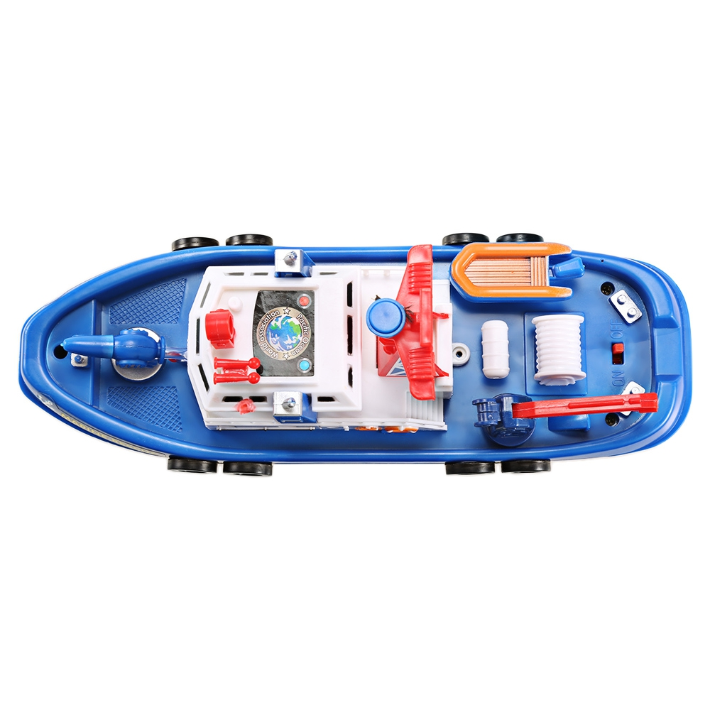 Outdoor Toys Music Light Electric Marine Rescue Fire Fighting Boat Toy Waterproof Mini Speed Boat Airship as gift for children (9)