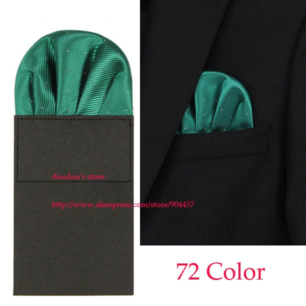 New Men's Pre Folded Pocket Square 72 Color Hanky Card Crown Insert Purple Free Shipping 100 pcs