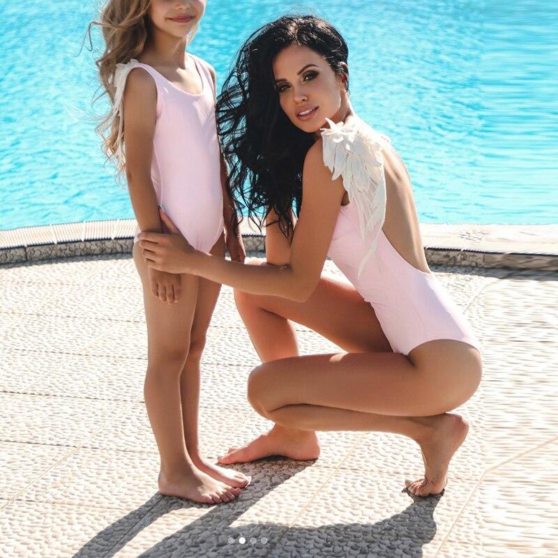 Sexy Angel Wings women bodysuit rompers bathing suit Summer style girls swimsuit