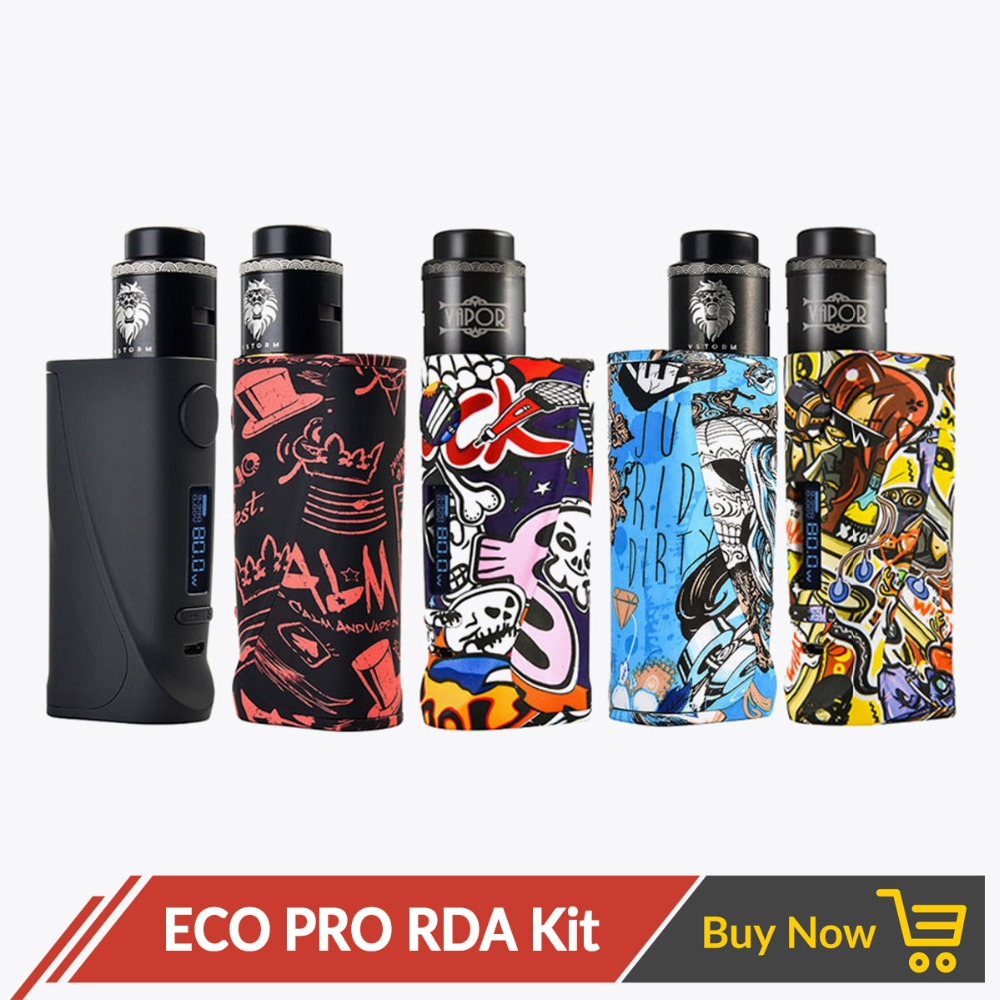 Vapor Storm ECO Pro Vape Kit TC Box Mod Variable Power 80W Lion Airflow Control for