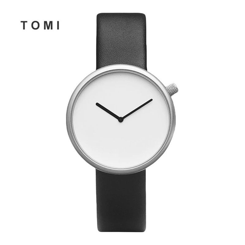 2017 Tomi New design Men watch Luxury Brand Watches Quartz Clock Simple Fashion Leather Cheap Round wristwatch Relogio male 10 read men watch luxury brand watches quartz clock fashion leather belts watch cheap sports wristwatch relogio male pr56