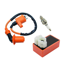 Racing Ignition Coil Spark Plug CDI For Gy6 Scooter ATV TaoTao 50cc 125cc 150cc цены