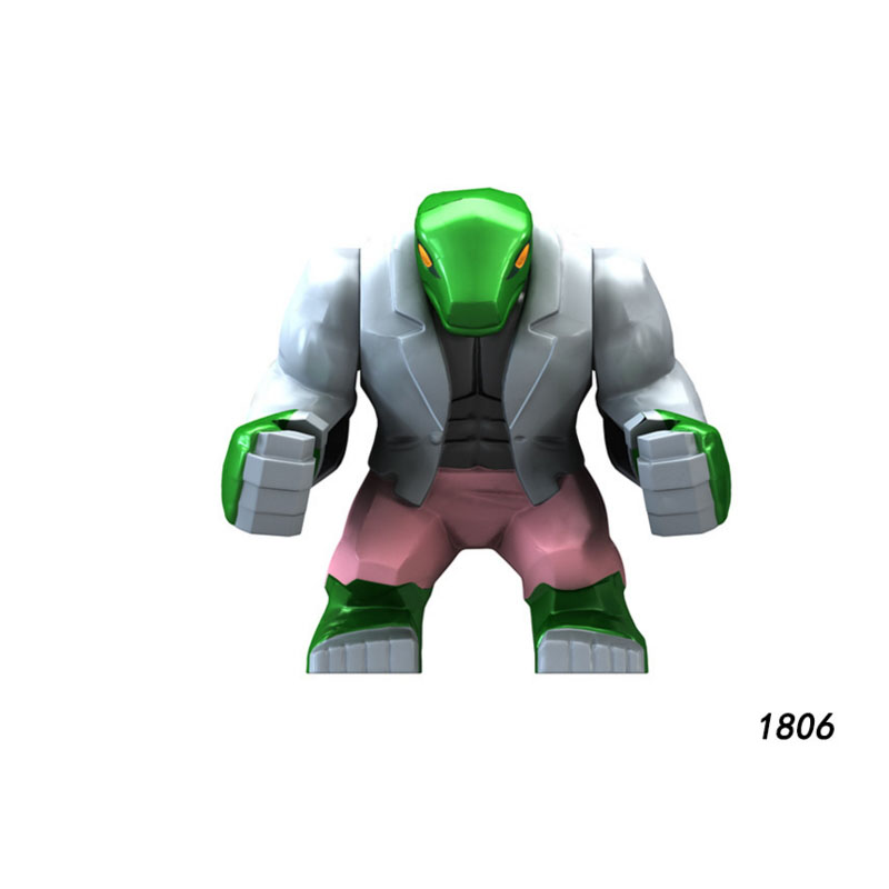 Single Sale Super Heroes Star Wars 1806 Lizard Model Mini Building Big Blocks Figure Bricks Toys Gifts Compatible Legoed Ninjaed