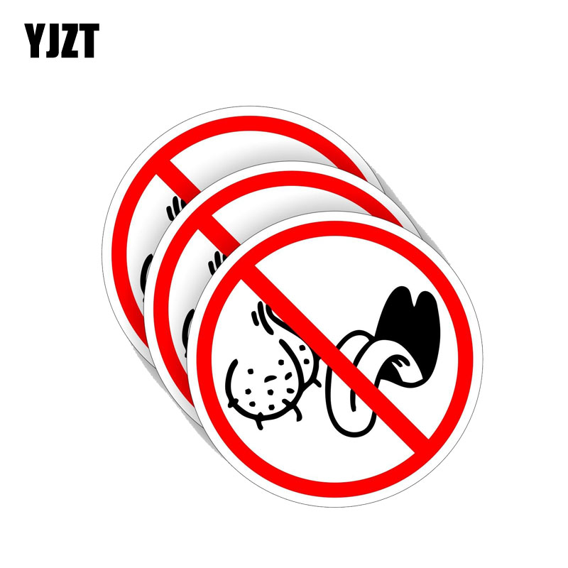 YJZT 3X 10CM*10CMNO Personality BAG LICKERS Funny Car Sticker PVC Decal 12-0450