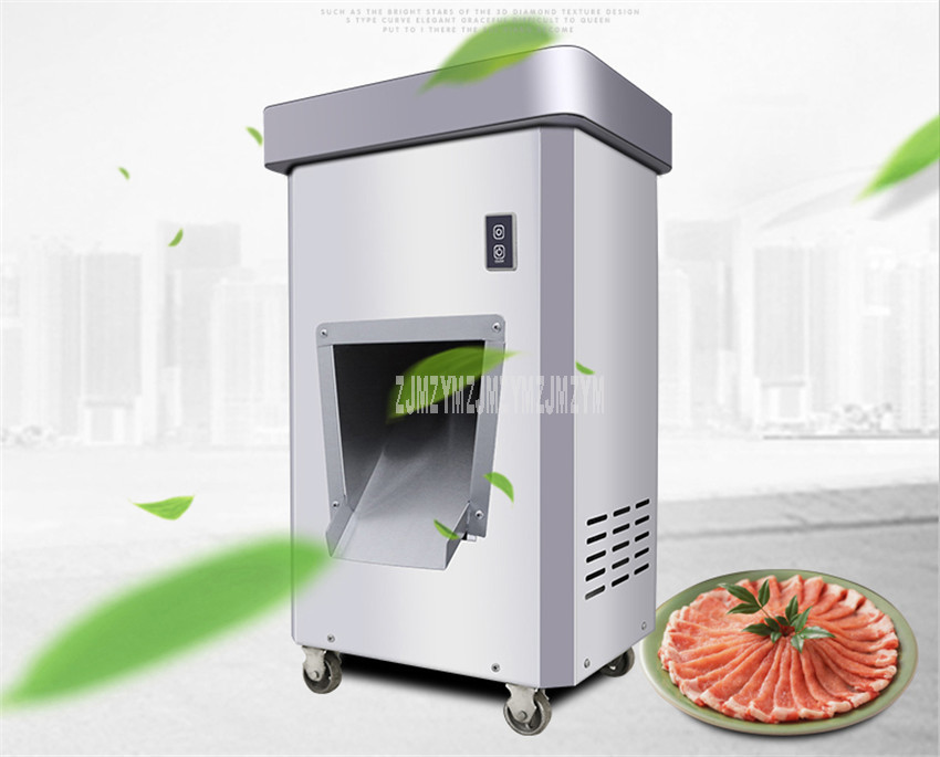 3.5mm/5mm/7mm/10mm/15mm/20mm Blade Spacing Electric Automatic Meat Slicer Cutter Stainless Steel Commercial Meat Cutting Machine 2
