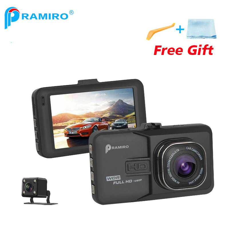 PRAMIRO DVR dash camera 1920x1080 Camera Resolution Car DVRs Dual Lens Car Video Recorder T636 registrator car camera dual dash camera car dvr with gps car dvrs car camera dvr video recorder dash cam dashboard full hd 720p portable recorder dvrs