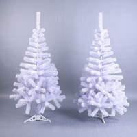Artificial Decorated Christmas Tree White Xmas Plastic Tree 120cm New Year Home Ornaments Desktop Decorations Christmas Tree