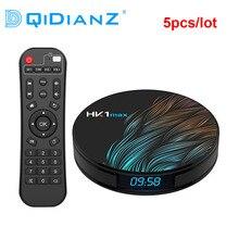 DQiDianZ 5 יח\חבילה אנדרואיד 9.0 HK1 מקסימום חכם טלוויזיה תיבת 2.4G/5G Wifi RK3318 Quad Core 4K HD מיני סט Top Box BT 4.0 HK1MAX טלוויזיה תיבה