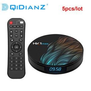 Image 1 - DQiDianZ 5 개/몫 안드로이드 9.0 HK1 최대 스마트 TV 박스 2.4G/5G 와이파이 RK3318 쿼드 코어 4K HD 미니 셋톱 박스 BT 4.0 HK1MAX TV 박스