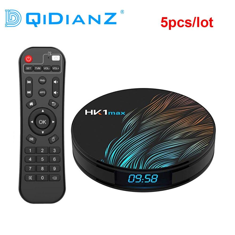 DQiDianZ 5 sztuk/partia Android 9.0 HK1 MAX Smart TV Box 2.4G/5G Wifi RK3318 Quad Core 4K HD Mini dekoder BT 4.0 HK1MAX TV BoxDekodery STB   -
