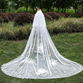 3 Meters Wedding Bridal Veils Long Two Layer Veil With Comb Ivory White Elegant Wedding Accessories New Fashionable Veil
