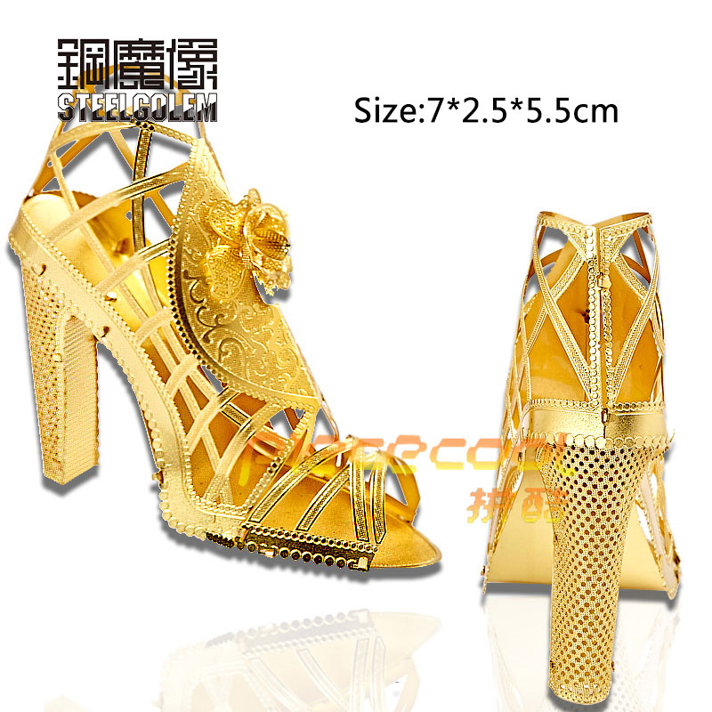 Piececool Fun 3D Nano Puzzle Metal Jigsaw High Heeled Sandal Models  Educational Toys For Children Adult Friend Birthday Gifts-in Puzzles from  Toys   Hobbies ... c80c037d6086