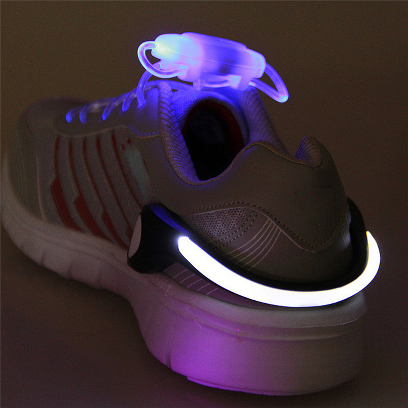 LED Luminous Shoe Clip Light Night Safety Warning LED Flash Light For Running Cycling Bright Flash Light Useful Outdoor Tool #2n (1)