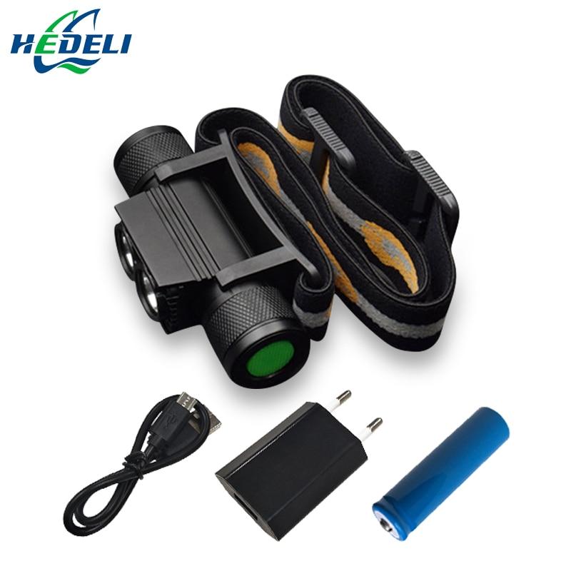 Infrared Sensing Mini Usb Head Lamp Led Head Light Rechargeable Waterproof 18650 Headlamp Head Torch Flashlight Headlight 2018
