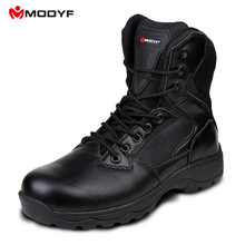 Modyf Men Winter Martin snow boots Esdy Desert Tactical Military Boots SWAT outdoor hiking leather Combat Shoes