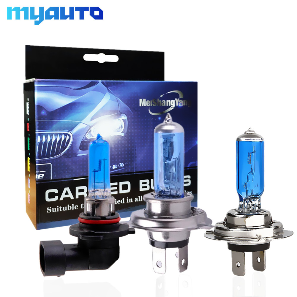 2PCS H1 H3 H4 H11 H7 H8 55W 100W Halogen Headlight Bulb 12V 9005 HB3 9006 HB4 100W Auto Fog Light White Car Lamp DRL