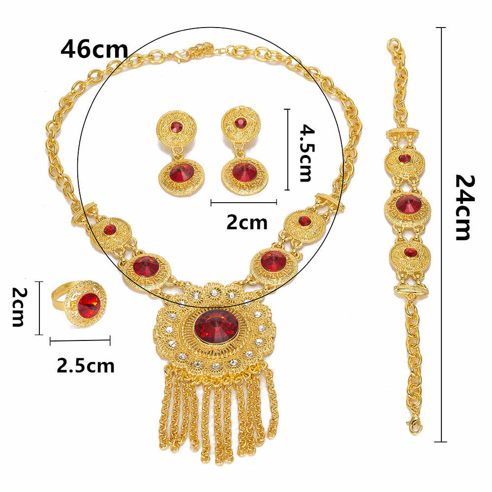 MUKUN High Fashion Dubai Jewelry Set Crystal Gold Silver Nigerian Bridal Wedding African Beads Jewellery Parure Bijoux Femme