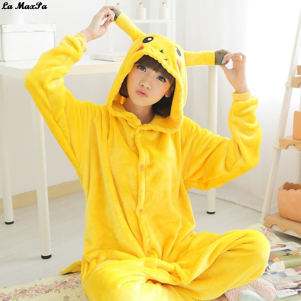 2018 Anime Onesie Pikachu Pajama Sets Women kigurumi Pajamas Adults Animal Pajamas Cartoon Winter Sleepwear Halloween Hooded