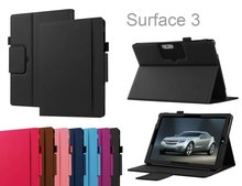 "Ultra Silm Business Portfolio PU Leather Tablet Protective Cover Case for Microsoft Surface 3 10.8"" with Keyboard Station Case"