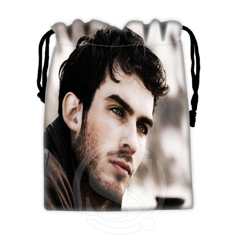 H-P733 Custom Ian Somerhalder#7 Drawstring Bags For Mobile Phone Tablet PC Packaging Gift Bags18X22cm SQ00806#H0733