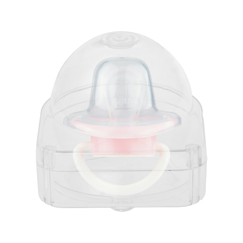 1PC Clear Pacifier Storage Box Nipple Dustproof Soother Crib Cover Outdoor Portable Trav ...