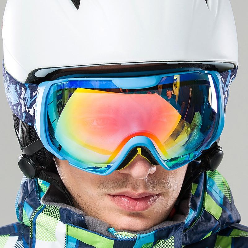 Prix pour Hommes de Femmes D'hiver Grand Ski Lunettes Double Sport En Plein Air Anti-brouillard Lunettes de Snowboard Vélo Ski Randonnée UV400 Lunettes VK016