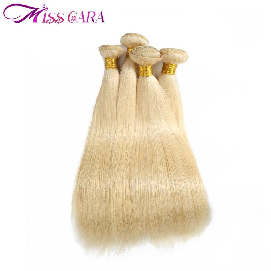 Miss Cara Реми Малайзии прямые волосы #613 светлые волосы 4bundles много 100% Человеческие волосы Weave Расширения Бесплатная доставка