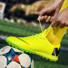 Turf Football  Men  Soccer Cleats Breathable Soccer Shoes TF Hard Court Sneakers Trainers New Design Football Boots Size 40-45 original new arrival nike hypervenomx phelon iii tf men s football soccer shoes sneakers