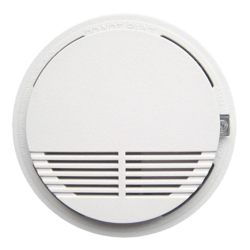 single Smoke font b Alarm b font Photoelectric Battery Optical Smoke Detector DC9V smoke detector