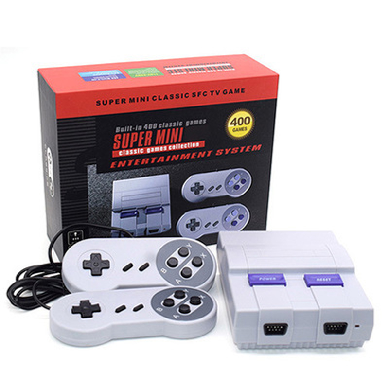 Family TV Retro Mini Handheld Video Game Console For SNES Games With 2 Controllers Built-in 400/660 Different Classic Games nintendo gbc game video card pokemons classic collect classic colorful edition
