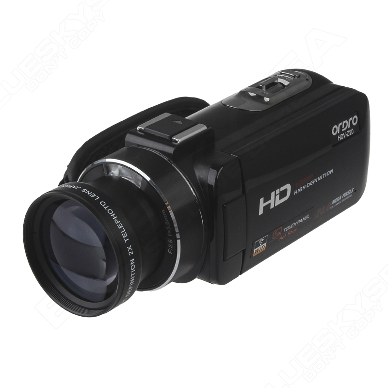 ORDRO Digital Video Camcorder Camera 1080P 24MP+0.45X Wide Lens+2X Teleconvertor Free shipping 15