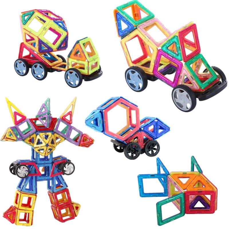 Image 2 - Magnetic Constructor Building Blocks 111PCS 3D Educational DIY Mini kits Magnet  Designer Accessory Toys for kids Christmas GiftBlocks   -