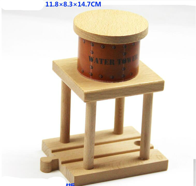 Thomas and Friends --Wood Water Tower Wood Track Thomas Wooden Train Track Railway Accessories Toy For Chirldren Gifts