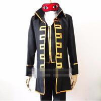 Fashion Cosplay Anime Gintama Silver Soul Okita Sougo Shinsengumi Halloween Cosplay Costume Outfit Uniform Set + Eye Shade