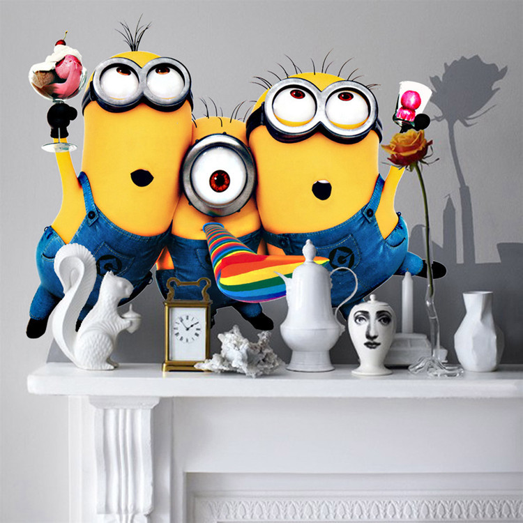 Aliexpresscom  Buy Minions Wall Decals Despicable Me  Cute - Minion wall decals