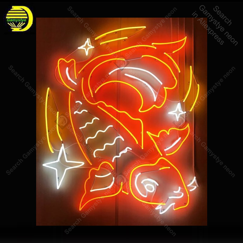 NEON SIGN For Fish Sign Goldfish light lampara neon signs sale vintage neon light for Windower wall custom made decorate vintageNEON SIGN For Fish Sign Goldfish light lampara neon signs sale vintage neon light for Windower wall custom made decorate vintage