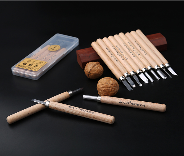 High Quality 12pc Wood Carving Knife Set