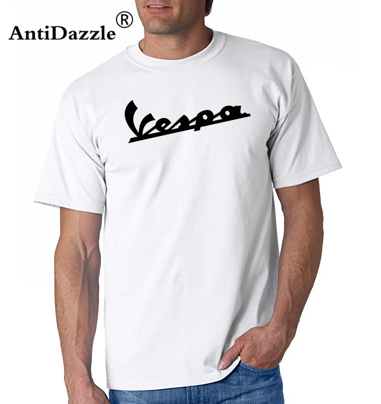 4ae385ab4ad New Summer Fashion Vespa Mod Scooter Men T shirt for Boys Vintage  Motorcycle Logo printing Tee