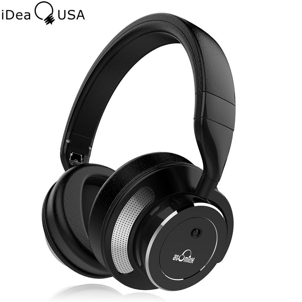 iDeaUSA V200 Active Noise Reduction Foldable Wireless font b Headphone b font Over Ear HiFi Bluetooth