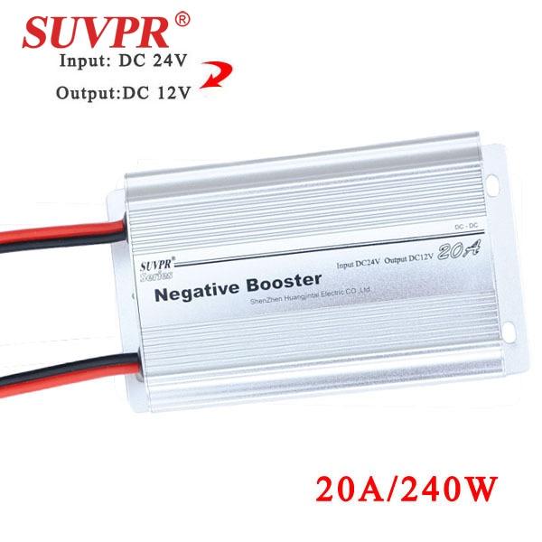 SUVPR 20A negatieve booster DC 24V naar DC 12V auto power converter - Auto-elektronica