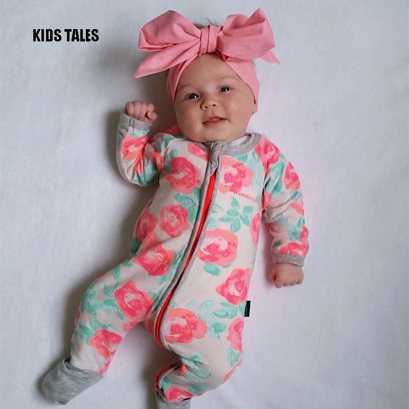 KIDS TALES Autumn Style Baby Rompers Girls Clothes Cotton Cute Mickey Minnie Romper Newborn Jumpsuits Ropa Bebes Baby Clothes 2017 new fashion cute rompers toddlers unisex baby clothes newborn baby overalls ropa bebes pajamas kids toddler clothes sr133