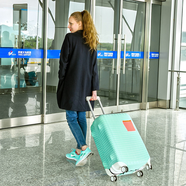 Luggage Protective Suitcase Case Luggage Cover for 18 20 22 24 26 28  inch Trolley Elastic Dust Rain Cover Luggage Covers