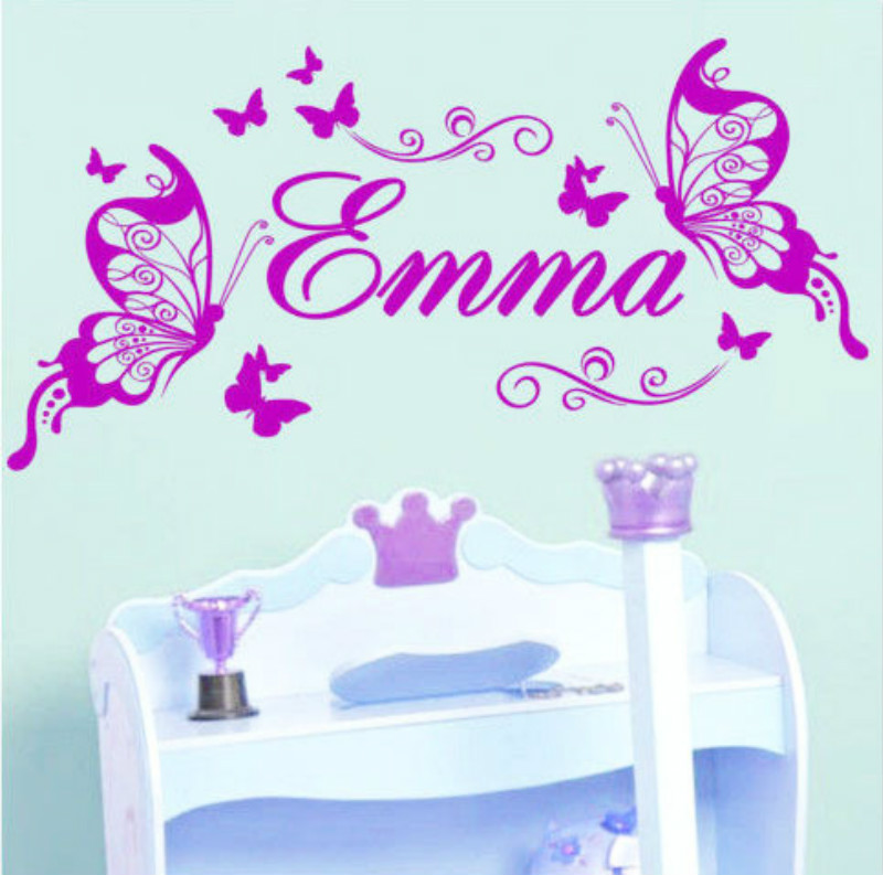 Personalized Name Butterfly EMMA Wall Decor DIY Wall ...