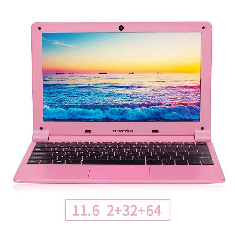 TOPOSH laptop (P5) 11.6 inch  Intel quad-core Processor Intel Z8350 RAM 2GB 32GB Expandable SSD Ultralight  notebook laptop